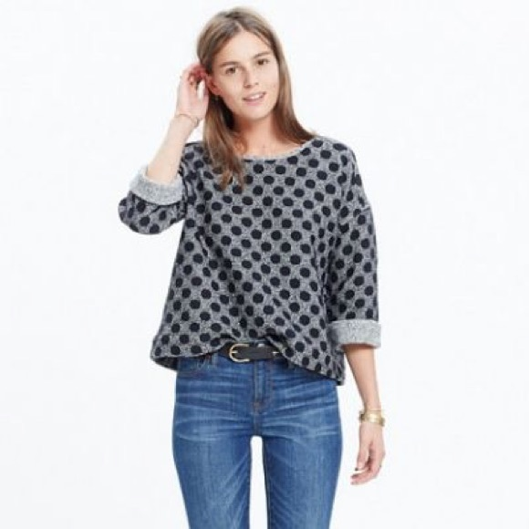Madewell Tops - Madewell reversible marled dot top